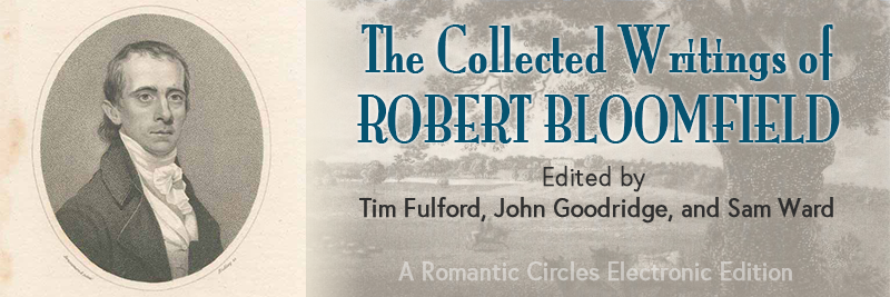 Collected Writings of Robert Bloomfield banner