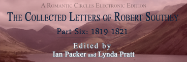 The Collected Letters of Robert Southey, Part Six