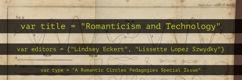 Romanticism and Technology banner