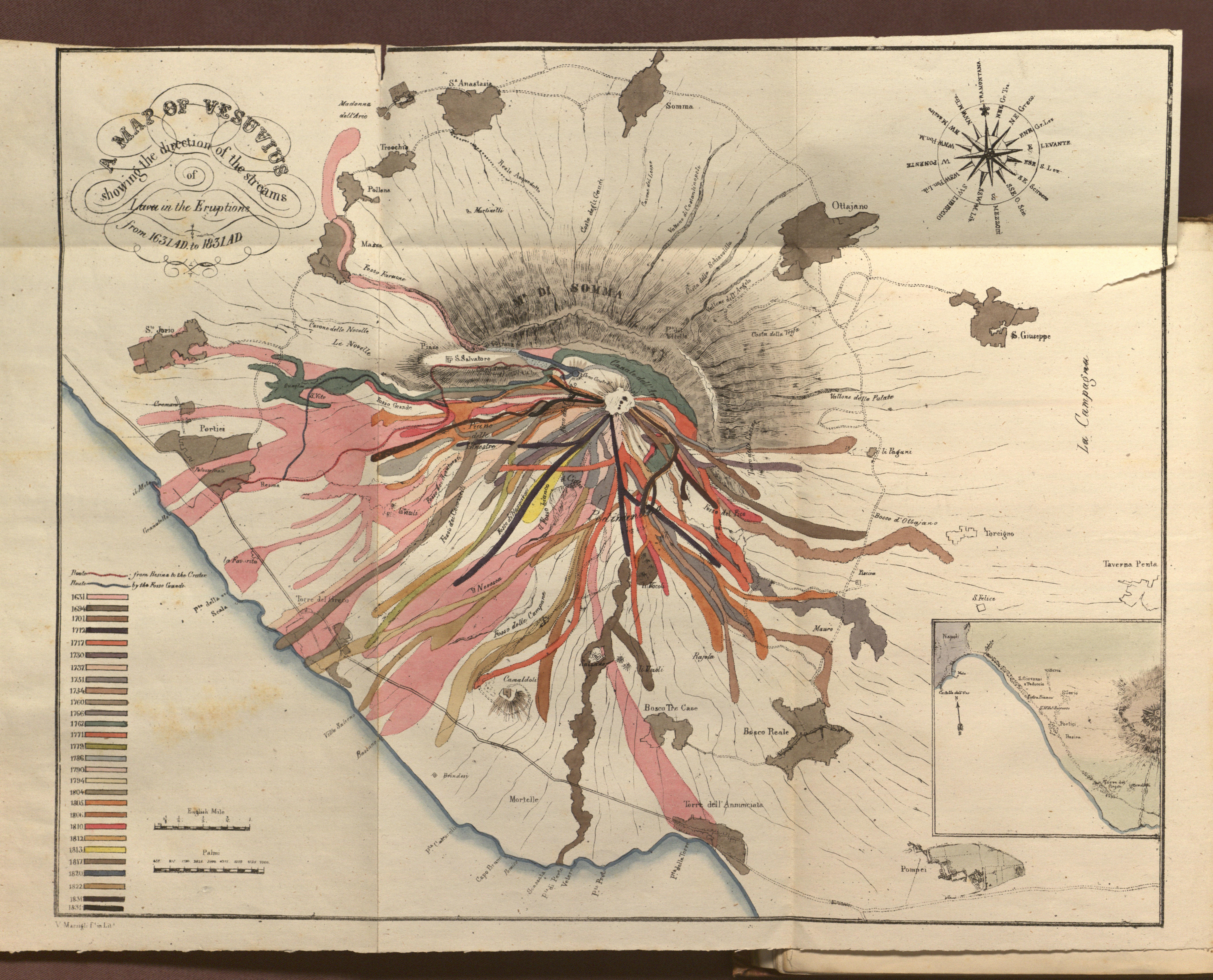 A Map Of Vesuvius Romantic Circles - Vesuvius map