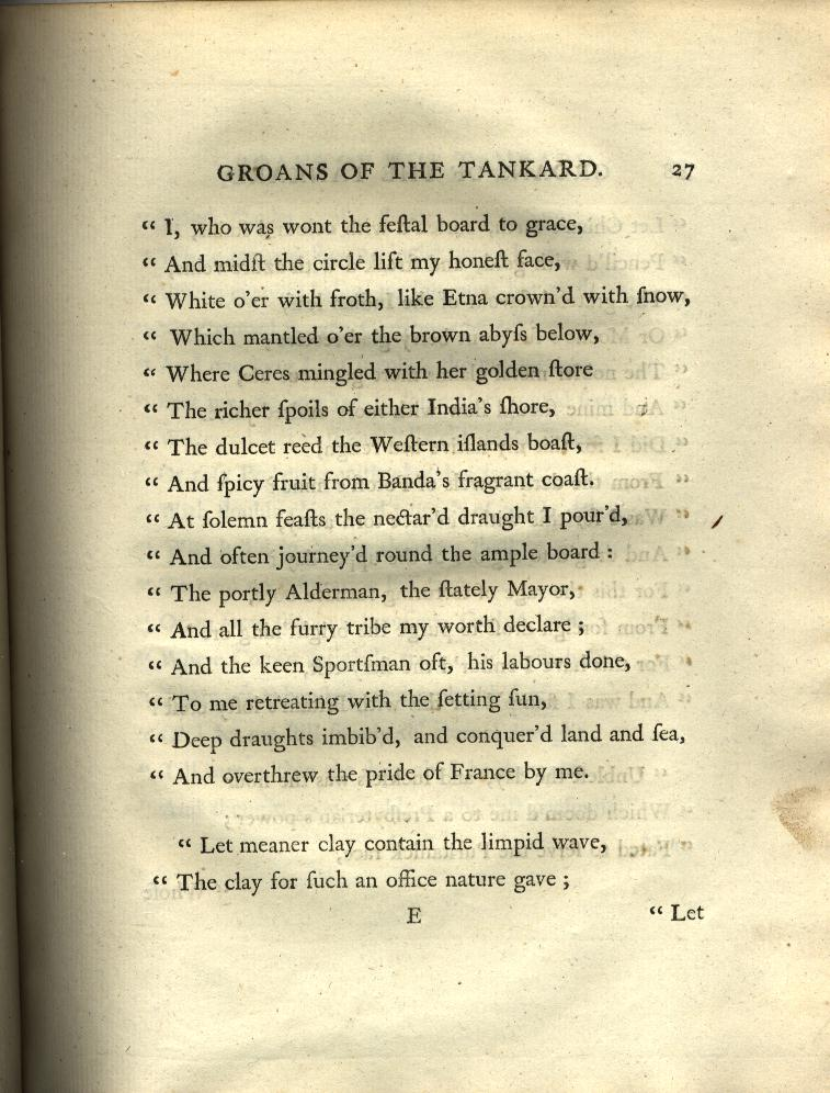 The Groans of the Tankard