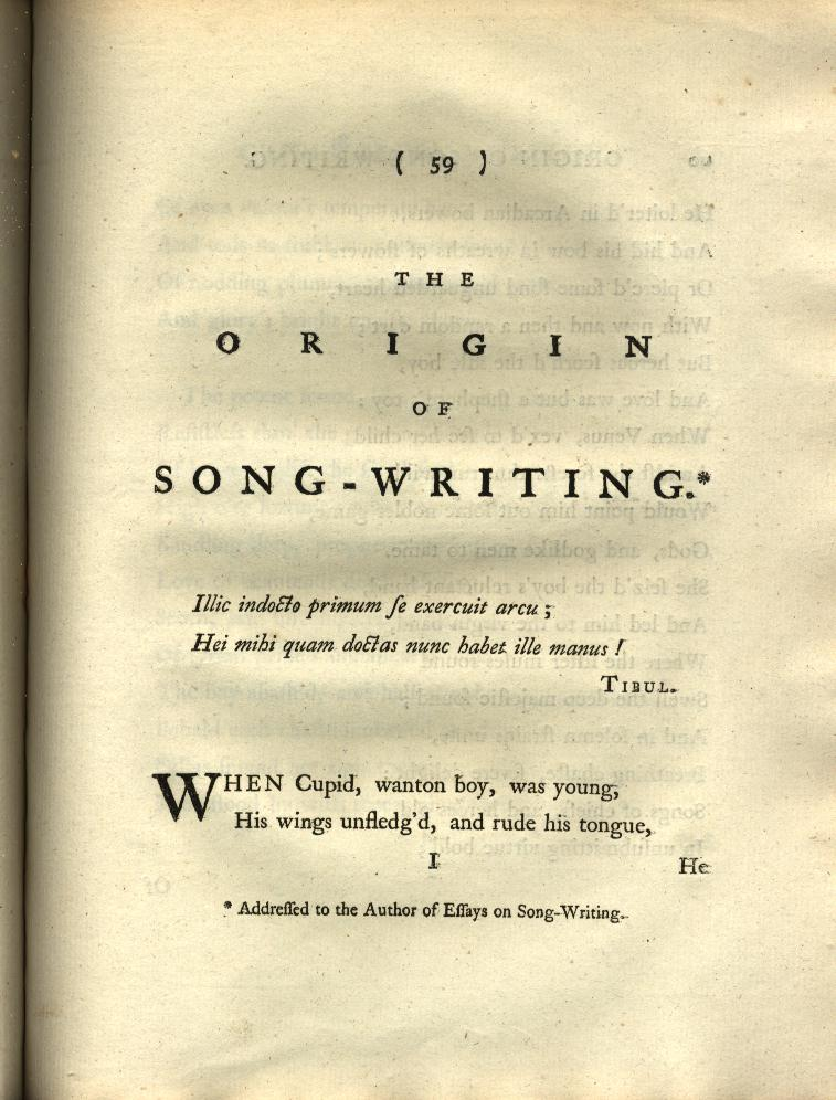 The Origin of Song-Writing