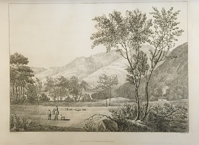 Figure 3: One of the engraver's proofs sent to Wordsworth to inform his               descriptions. The published version of this image appeared in the July number of               Select Views as Bassenthwaite                 Lake. (Courtesy: Wordsworth Trust)