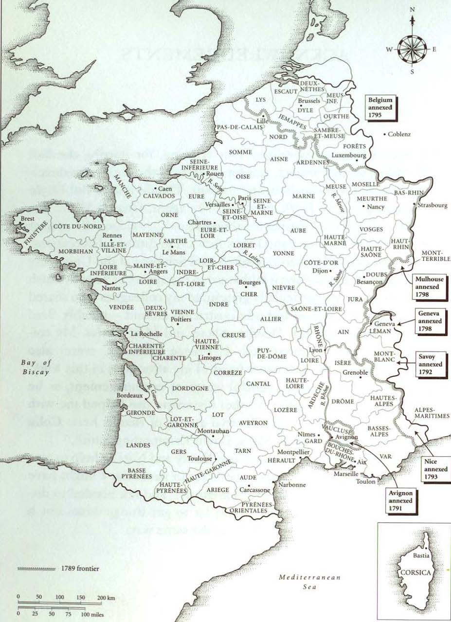 France in the 1790s chronology maps romantic circles published rc gumiabroncs Gallery