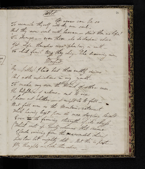 Fair copy of Manfred MS. 43335 f. 46r.  Reproduced by permission                          of the National Library of Scotland; Lord Byron, Manfred                         (1817) 59