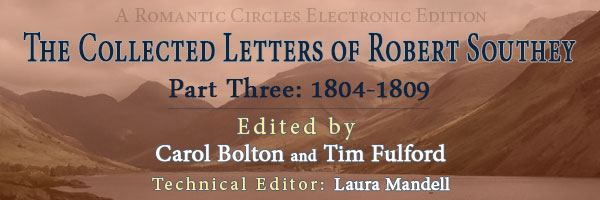 The Collected Letters of Robert Southey Part 3