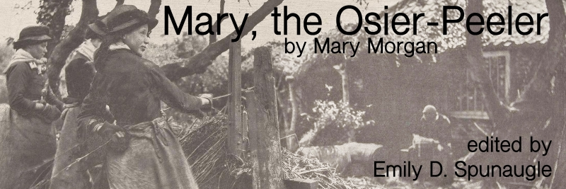 Mary, the Osier-Peeler by Mary Morgan [image of woman peeling osiers]