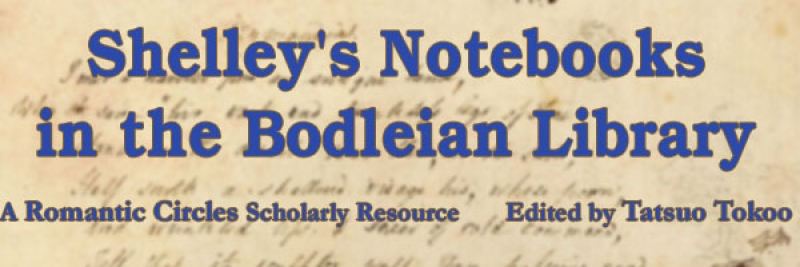 Shelley's Notebooks in the Bodleian Library