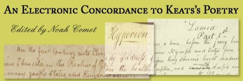 Keats Concordance