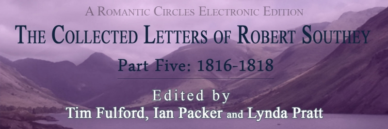 The Collected Letters of Robert Southey, Part Five
