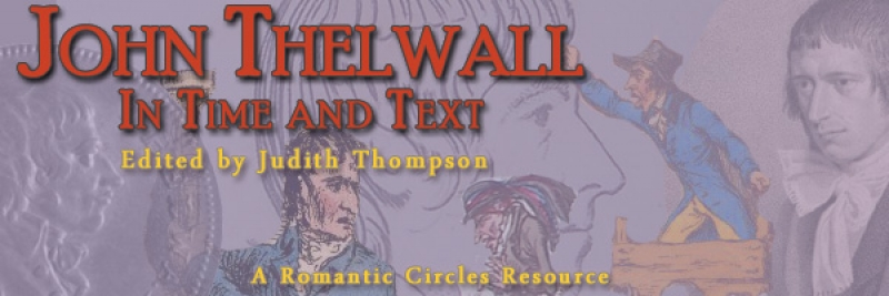 John Thelwall in Time and Text, Edited By Judith Thompson