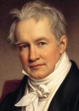 Alexander von Humboldt, (detail) by Joseph Stieler, 1843
