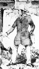 The figure depicted in this detail view of a lithograph made from one of Catherwood's drawings is presumed to be a possible representation of Catherwood himself. No other portraits of Catherwood are known.