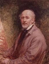 A self portrait of John Linnell, c.1860