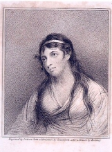 Portrait of Mary Tighe (1772-1810). Frontispiece from her Psyche, with Other Poems. 5th ed. London: Longman, Hurst, Rees, Orme, and Brown, 1816.