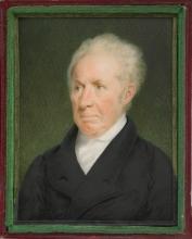 Gilbert Stuart miniature portrait by Sarah Goodridge, 1825